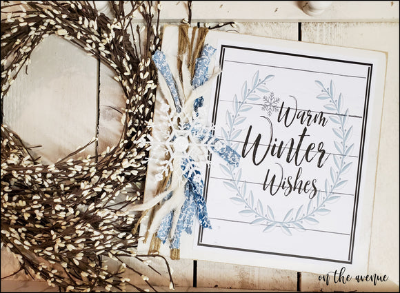 Warm Winter Wishes - Winter Sign