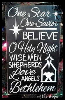 One Star-One Savior Subway Art Sign