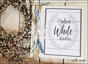 #6 - Silver White Wishes - Winter Sign