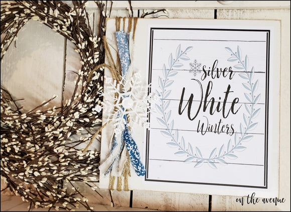Silver White Wishes - Winter Sign
