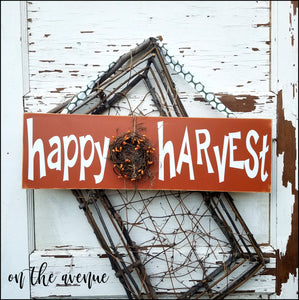 Happy Harvest Fall Wreath Door Hanger
