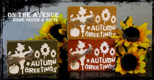 Autumn Greetings Block Set