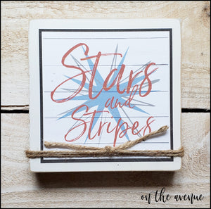 Stars and Stripes - Shelf Sitter Block