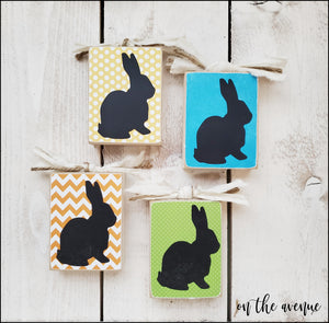 #6 - Mini Bunny Block (Set of 4) - Unfinished Craft Kit