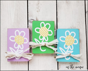 Daisy Block Set (3) - Unfinished Craft Kit