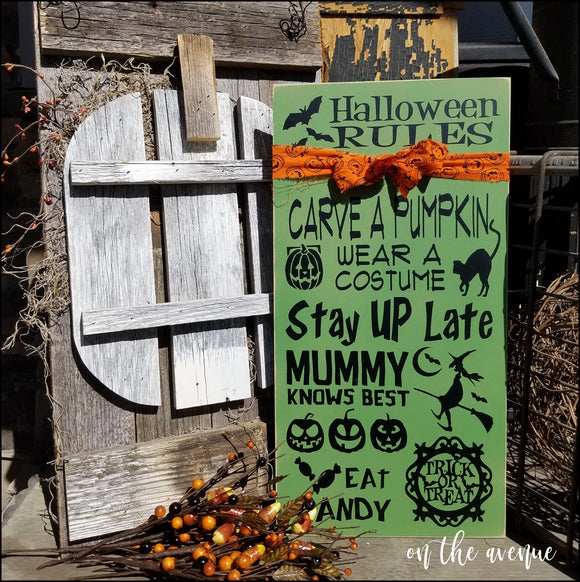 Halloween Rules Sign