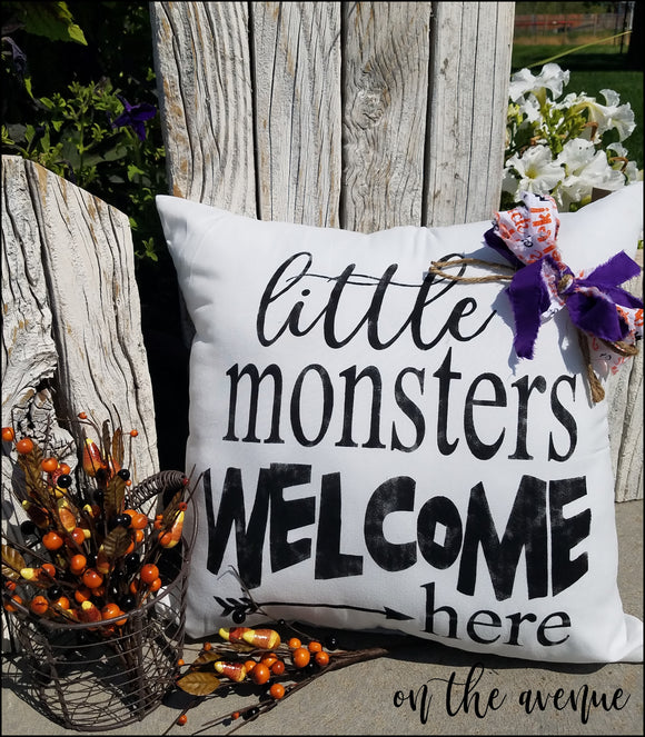 Little Monster's Welcome Here Pillow