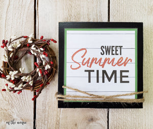Sweet Summer Time - Shelf Sitter Block