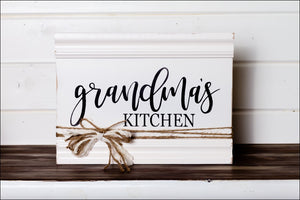 ~Grandma's Kitchen~ Sign w/Border
