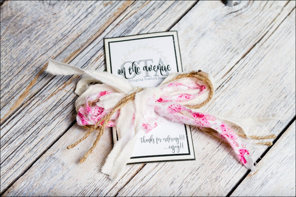 Pink Fabric/Jute Bow