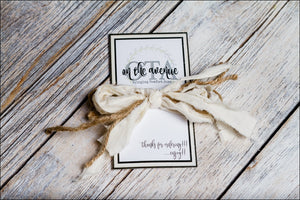 Cream Fabric/Jute Bow