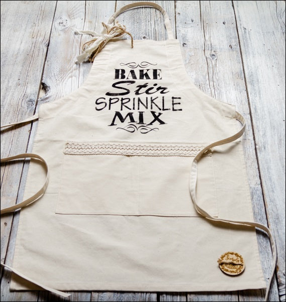 ~Bake, Stir, Sprinkle, Mix~ Fabric Apron