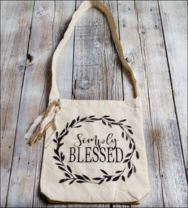 ~Simply Blessed W/Wreath~ Tote Bag
