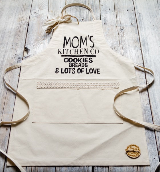 ~Mom's Kitchen Co~ Fabric Apron