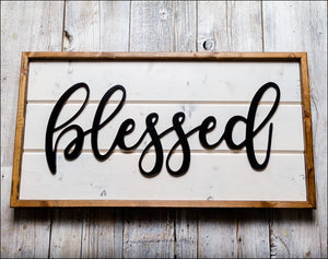 ~Blessed~ Shiplap Box