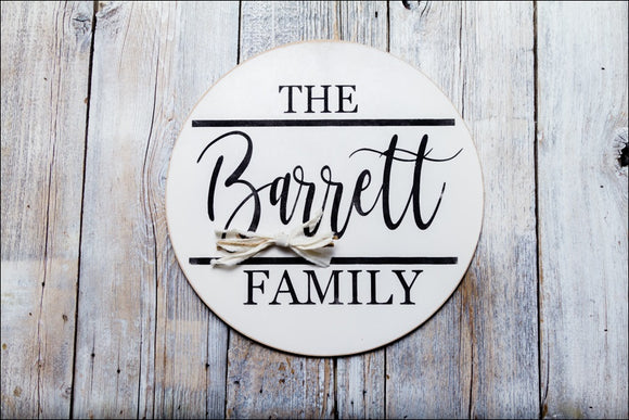 ~Custom Name~ Round Sign