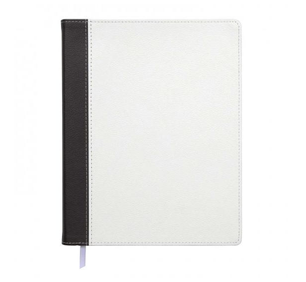Leatherette Journal - Black & White
