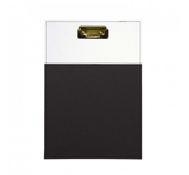 Leatherette Clipboard - Black & White