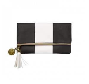 Leatherette Fold-Over Case - Black & White