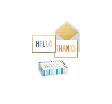 Bright Folded Thank You Notes