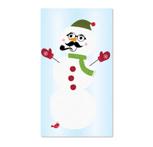 Wall Decal (Age 3+) - Build-A-Snowman