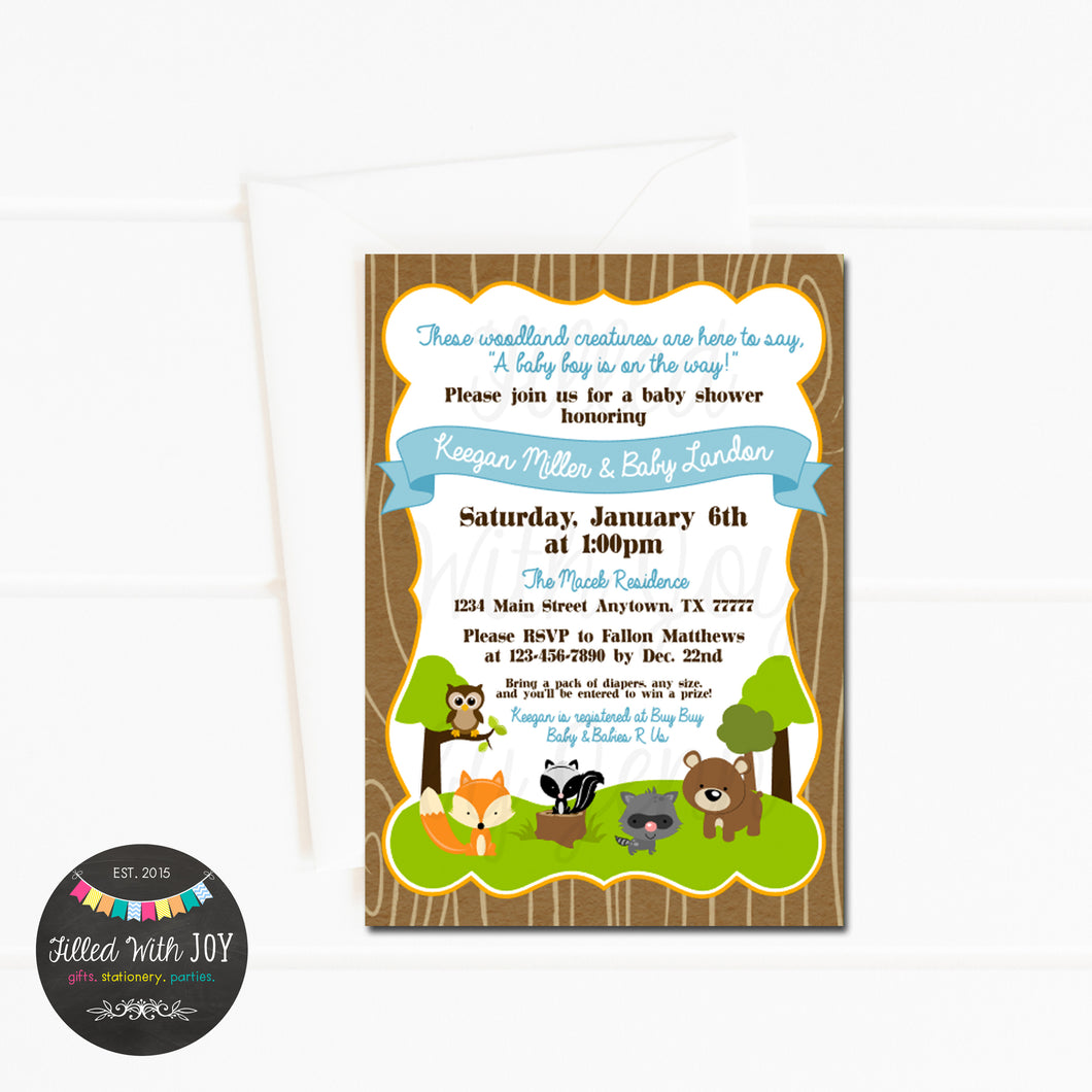 Woodland Friends Invitation