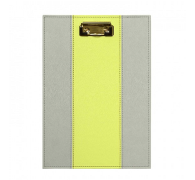 Leatherette Clipboard - Citron & Slate