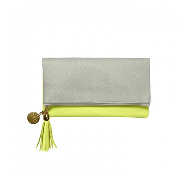 Leatherette Fold-Over Case - Citron & Slate