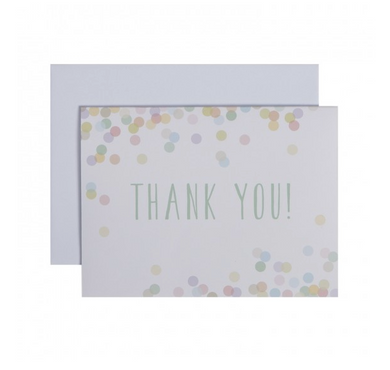 Confetti Folded Thank You Notes