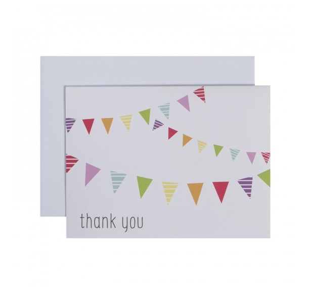 Festive Flags Folded Thank You Notes