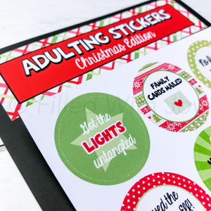 Christmas Adulting Stickers