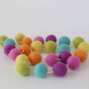 Sprinkles Felt Ball Garland