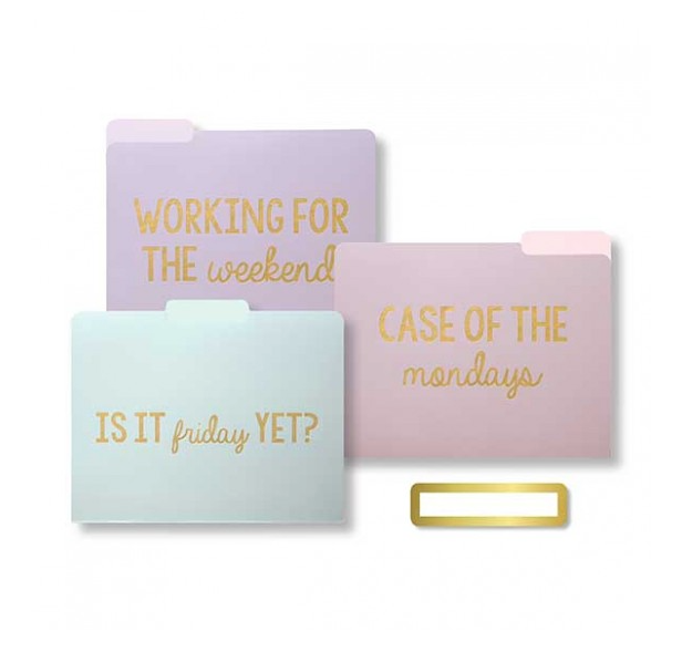 Sweet & Snarky File Folders