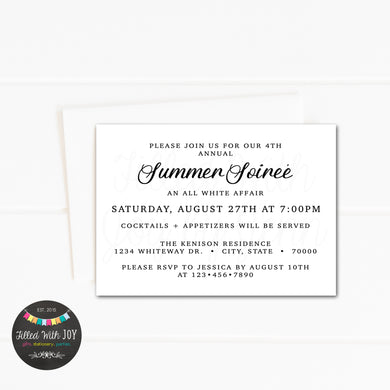 All White Summer Soireé