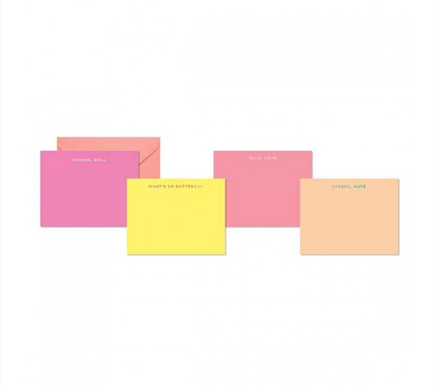 Neon Brights Flat Note Card Set