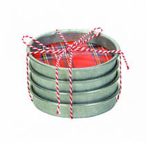 Galvanized Coasters - Rustic Holiday