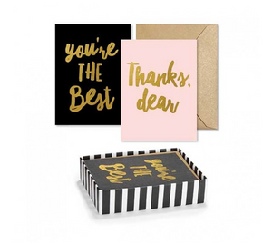 Classy Gold Foil Thank You Notes