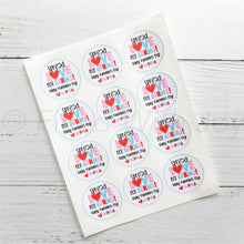Valentine Sanitizer Stickers