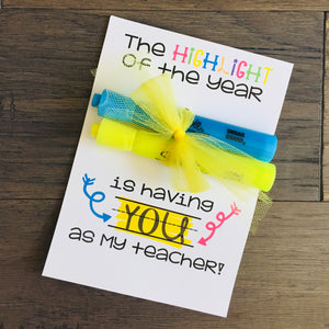Highlighter Teacher Gift