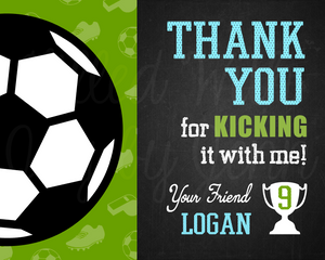 Soccer Thank You Sign