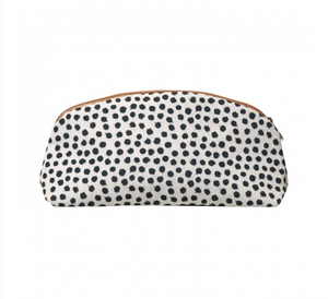 Black & White Spotted Canvas Pouch
