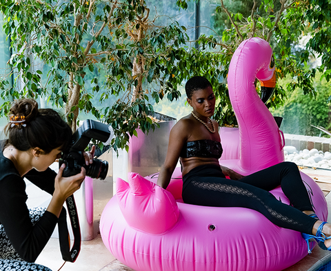 Behind the scenes at our summer campaign