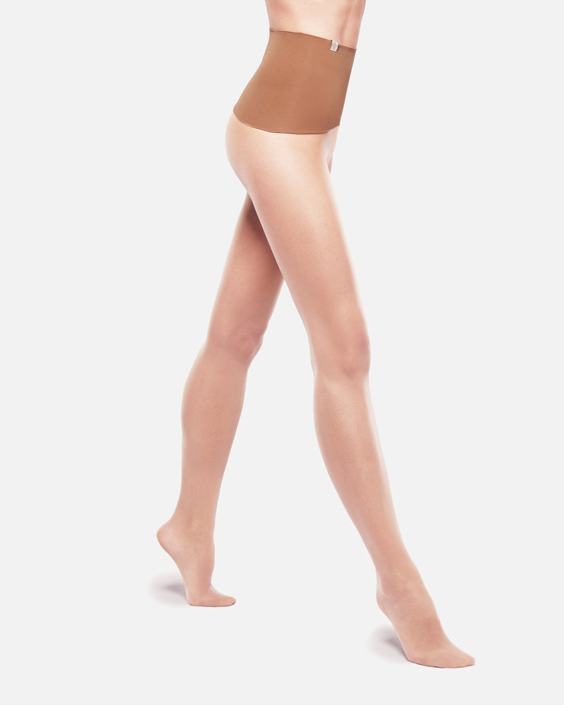Nude Seamless Tights run resistant
