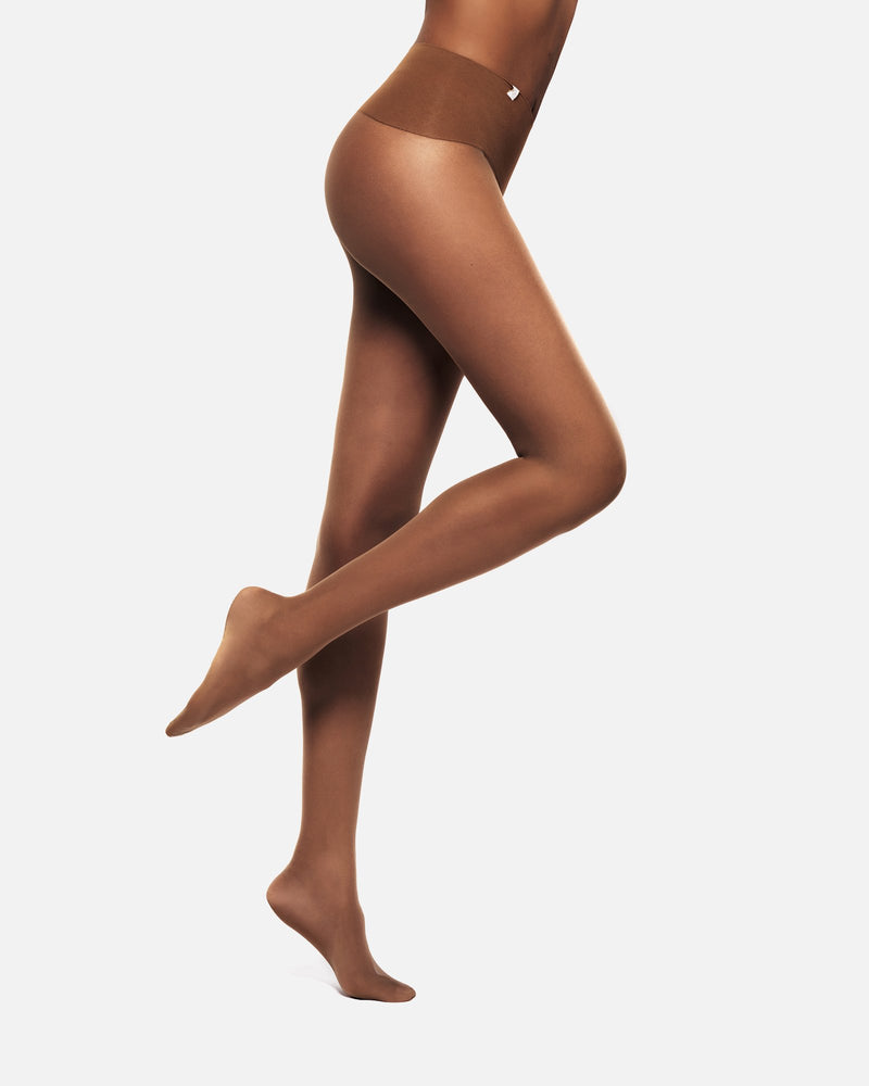 smokey whisky seamless tights