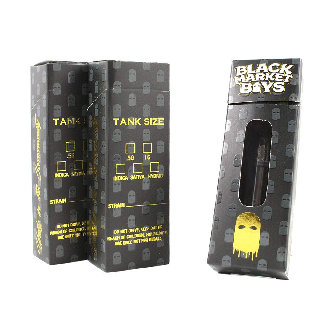 Black Market Boys - Box - Cannabis Packaging - Cannabis Cartridge Custom BOX