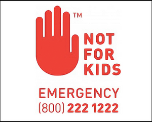 NOT FOR KIDS - WARNING Labels WA - Custom Order