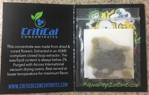 Critical SFV OG - 2017 - California Legal Cannabis - 21 Plus Medical
