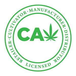 California Cannabis License Sticker, stamp, poster, hologram, certified, approved