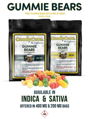 Candy Care - Gummy Bears - CC - The Difference - 200 mgs