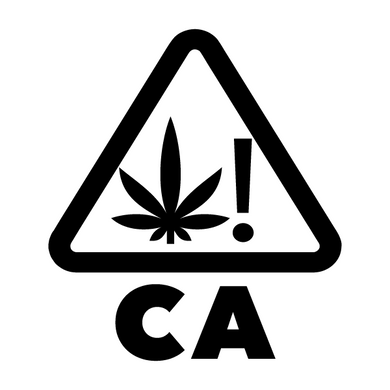 California THC Universal Symbol Cannabis Warning Labels - CA CANNABIS STICKER